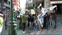 Manifestacion protesta recortes educacion