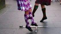 Scottish Sword Dance Royal Mile Edinburgh Scotland