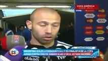 Entrevista a Mascherano - Argentina 6-1 Paraguay ● Copa América 2015
