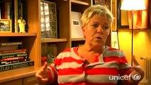 Mimie Mathy témoin de l'action de l'Unicef au Cambodge