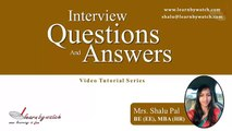 Interview Questions and Answers Series by Shalu Pal   Video 19 English