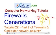 Firewalls Generations and Network security, 22, Computer Networking tutorial for beginners