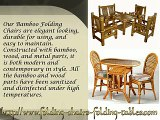 Discount Folding Chairs Tables Larry Presenting Bamboo Folding Chairs_WMV V8