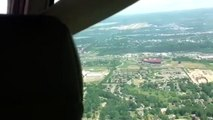 Cherry Capital Airport (KTVC) Traverse City, inbound for landing on day before cherry festival.