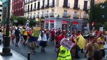 Madrid - 23 Julio 2011 - Indignados - Marcha - Calle Mayor - Puerta del Sol