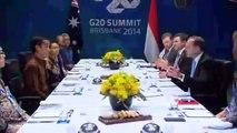 G20 Brisbane: Tony Abbott has dinner with Indonesian president Joko Widodo