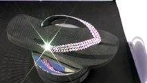 "Havaianas Flip Flop Swarovski Sandals AB (Aurora Borealis) By ""SWAROVSKAT"""