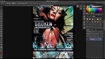 PSD Template Broken Glass Poster Template Photoshop Tutorial Scarab13