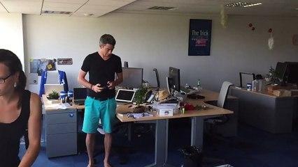 Drone Fight in Sophia Office 1/3