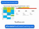 Real Estate Coach | Time Blocking   |  Affordable Real Estate Coaching