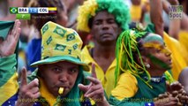 Brazil Colombia Highlights 2014 Fifa World Cup Soccer all goals Brazil win 2-1