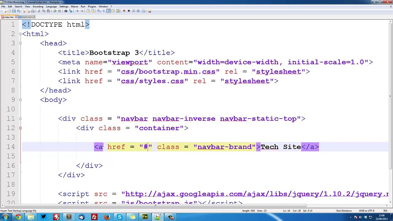 Bootstrap-3-Tutorials---2---Responsive-Collapsing-Navbar-1080p
