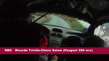 Cámara interior R.Triviño-C.Salom (Peugeot 206 WRC) Rallye ciudad de Cervera