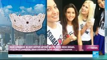 MISS UNIVERSE - Miss Lebanon criticized after being caught in Miss Israel's selfie