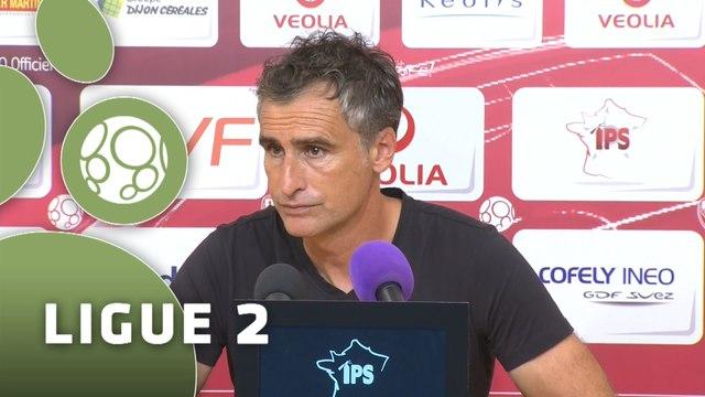 Conférence de presse Dijon FCO - Chamois Niortais (3-0) : Olivier DALL'OGLIO (DFCO) - Régis BROUARD (CNFC) - 2015/2016