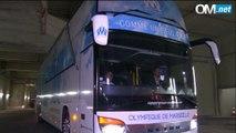 OM-Caen : l'arrivée des Olympiens au Vélodrome