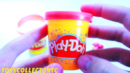 NEW Play Doh Kinder Surprise Eggs Shopkins Barbie Funny Peppa Pig Toys