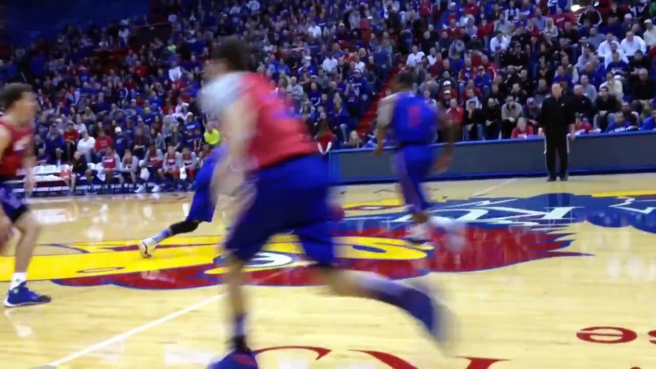 KU basketball open scrimmage highlights