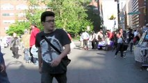 Billy Waldman from Kids starving artist junky sales pitch at Union Square NYC