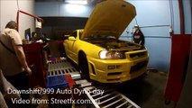 """R34 GTR nearly breaks off Dyno - """"NITTO"""" - 1074awhp. 3.2L Stroker RB26 RB30"""