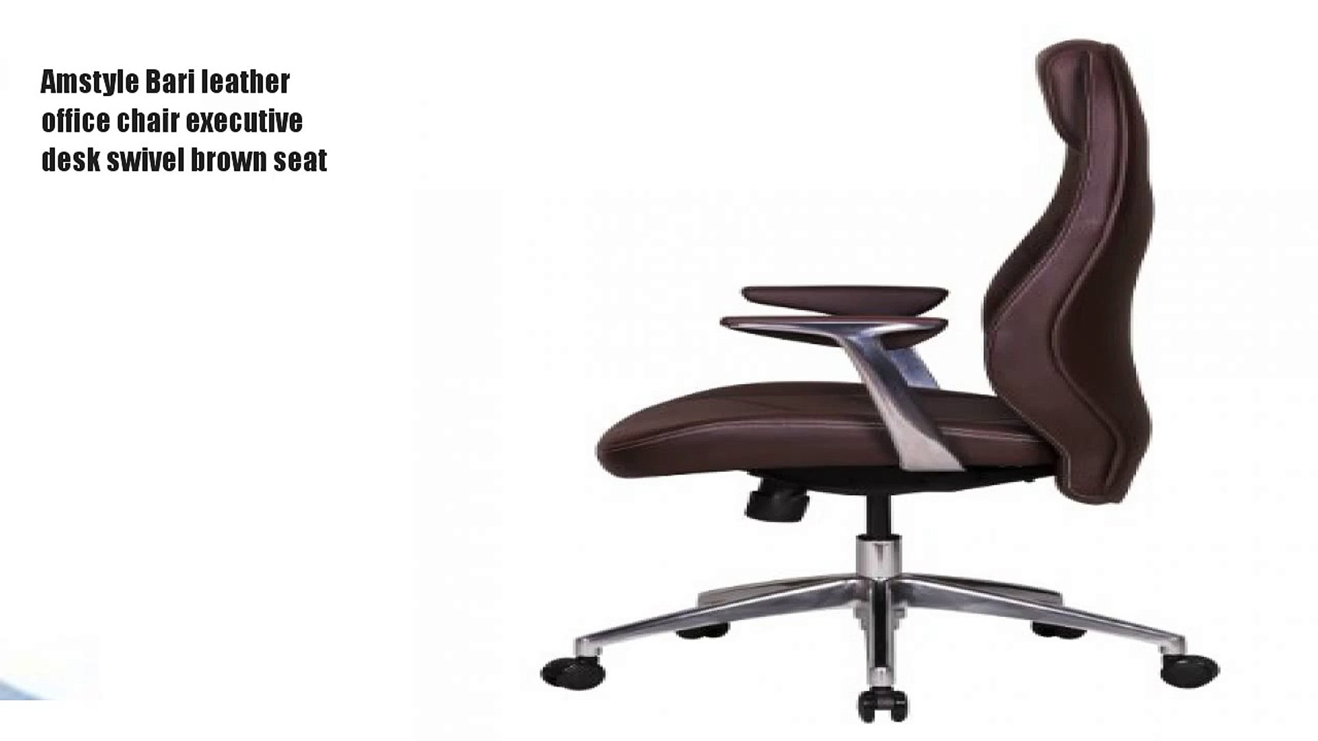 Excellent Amstyle Bari Leather Office Chair Executive Desk Swivel Pabps2019 Chair Design Images Pabps2019Com