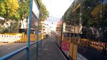 Tram Kassel: Umsetzen an der Stadthalle/Kongress Palais Kassel, 14. Oktober 2013 (Description DE/EN)