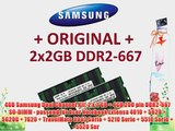 4GB Samsung Dual Channel Kit: 2 x 2 GB = 4GB 200 pin DDR2-667 SO-DIMM - passend f?r Acer Notebook