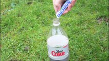 DIY  Diet Coke and Mentos Eruption  Science Experiments To Do A Home