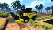 Farming Simulator 15 New Holland T8020, Case CVX175, New Holland CR 9.90 Black