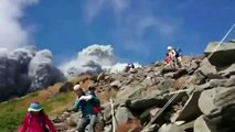 (RAW FOOTAGE) Japan volcano shoots rock & ash on Mount Ontake - HEADLINES