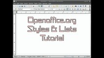 OpenOffice.org Writer Styles and Lists Tutorial