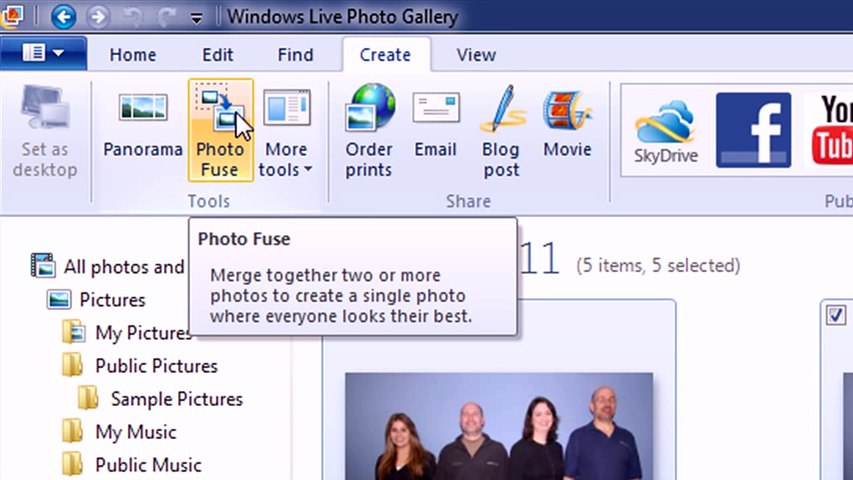 Windows Live Photo Gallery Photo Fuse Video Dailymotion