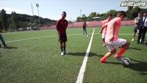 SkillTwins Impress Ashley Cole With Amazing Football Skills!
