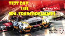 test day 24h spa Francorchamps 2015