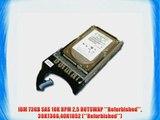 IBM 73GB SAS 10K RPM 25 HOTSWAP **Refurbished** 39R736640K1052 (**Refurbished**)