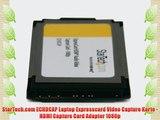 StarTech.com ECHDCAP Laptop Expresscard Video Capture Karte - HDMI Capture Card Adapter 1080p