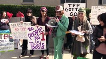 Constituents Opposing TPP Fast Track Locked Out Of Congressman's Office