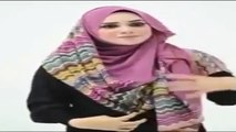 Tutorial Hijab ~ Hijab Segi Empat Kolaborasi Dua warna ~ Terbaru
