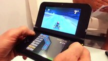 Nintendo 3DS XL hands on true Playing Mario Kart