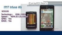 I997 Infuse 4G | Samsung Galaxy Mobile Phone Specifications | Brands & Features List