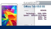 Galaxy Tab 4 8.0 3G | Samsung Galaxy Mobile Phone Specifications | Brands & Features List