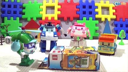 Машинки мультфильм для детей - Робокар Поли и Ниндзяго на детской Площадке Robocar Poli &  Ninjago.