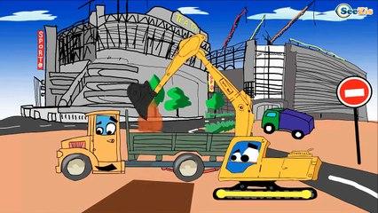 Экскаватор Кран Эвакуатор: Все серии подряд. Мультики про Машинки - Строительная техника