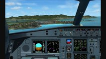 FSX Wilco Airbus A340-600 landing at Princess Juliana Airport (TNCM)  / Flytampa Scenery