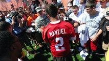 All eyes on Johnny Manziel at Browns training camp