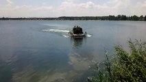 Безлюдовка БТР 60 выход из воды BTR 60 8X8 Soviet armored personnel carrier