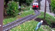 LGB Fahrtag im August 2014 anlässlich des 10jährigen Bestehens unserer Gartenbahn