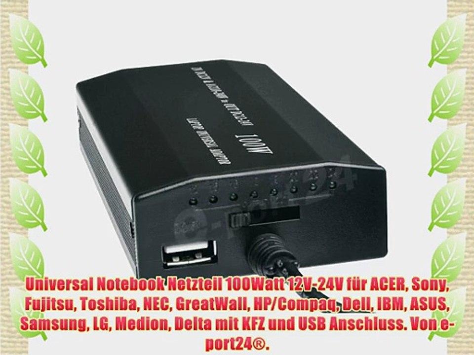 Laptop Notebook Universal Netzteil KFZ Ladekabel Ladegerät 12V-24V 80W+8 Adapter