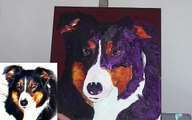 How to paint an Australian Shepherd - time lapse painting demonstration