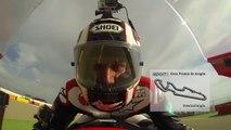 Motorland Aragon Onboard with Alex Hofmann ! Moto GP on Sport 1 ! Aprilia RSV4 !